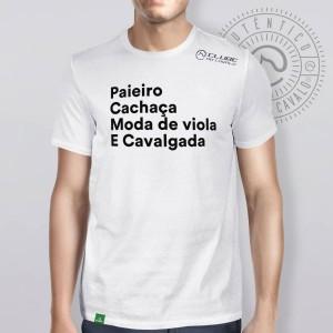 Camiseta Branca Frases: Paieiro... do Clube do Cavalo