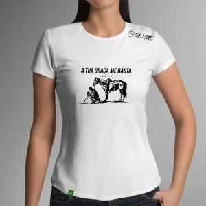 Camiseta Branca Frases: A tua... do Clube do Cavalo