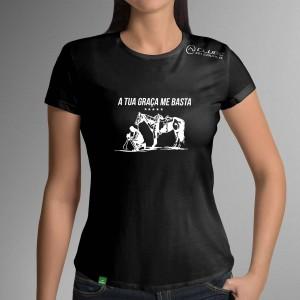 Camiseta Preta Frases: A tua... do Clube do Cavalo
