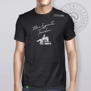 Camiseta Preta Frases: Meu Esporte... do Clube do Cavalo