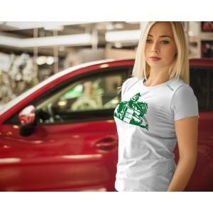 Camiseta Feminina Branca Tambor