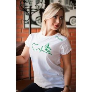 Camiseta Feminina Branca Amo Tambor