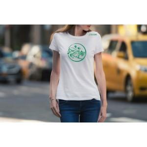 Camiseta Feminina Branca Hipismo