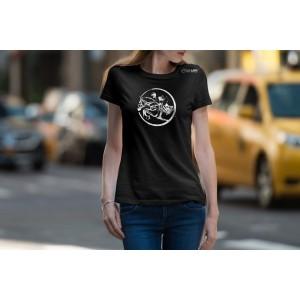 Camiseta Feminina Preta Hipismo