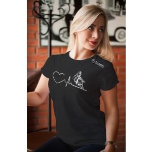 Camiseta Feminina Preta Amo Tambor