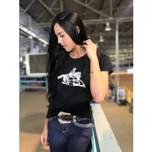 Camiseta Feminina Preta Tambor