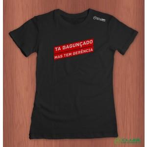 Camiseta Feminina Tá bagunçado - Preta