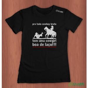 Camiseta Feminina Pra Todo Cowboy Bruto - preto