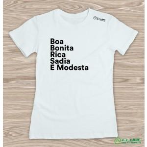 Camiseta Feminina Boa e Bonita - Branca
