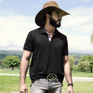 Camisa Polo Bordada Preta