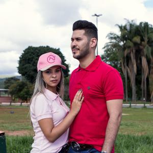 Camisa Polo - Vermelha e Xadrez com Pingente