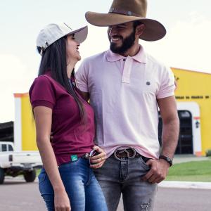 Camisa Polo - Rosa com Pingente