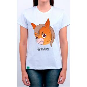 Camiseta Feminina Branca Emoji - Irritado