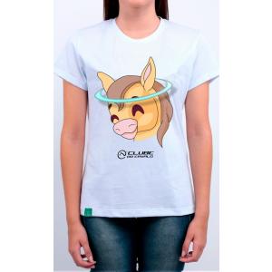Camiseta Feminina Branca Emoji - Anjinho