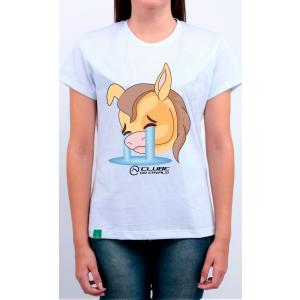 Camiseta Feminina Branca Emoji - Chorando