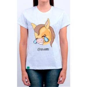 Camiseta Feminina Branca Emoji - Chorando De Rir