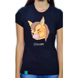 Camiseta Feminina Preta Emoji - Piscada