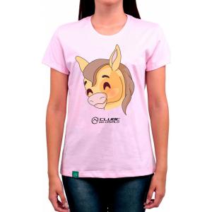 Camiseta Feminina Rosa Emoji - Fofo