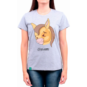 Camiseta Feminina Cinza Emoji - Sofrendo