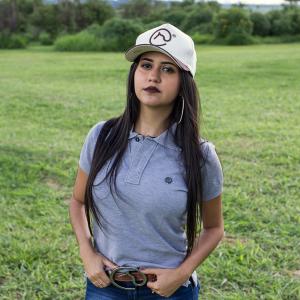 Camisa Polo original Cinza Feminina + pingente Clube do Cavalo