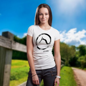 Camiseta Feminina Logo Clube do Cavalo Branca