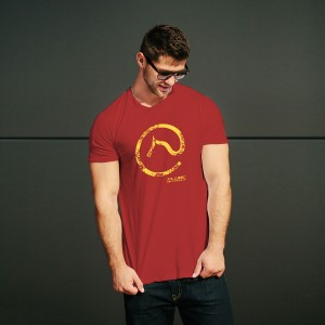 Camiseta Estampada - Vinho